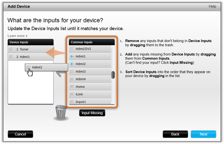 Adding a private device