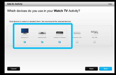 """Erstellen einer Aktion """"Fernsehen"""""""