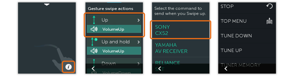 Harmony Remote Customize Gestures