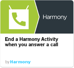Harmony IFTTT - answer call