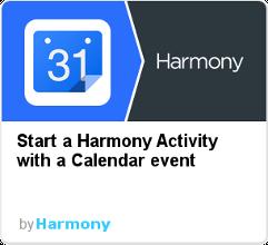 Harmony IFTTT - calendar event