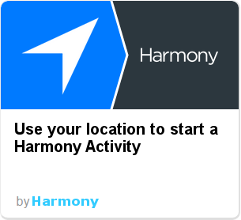 Harmony IFTTT - location aware