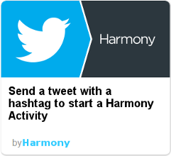 Harmony IFTTT - tweet to start