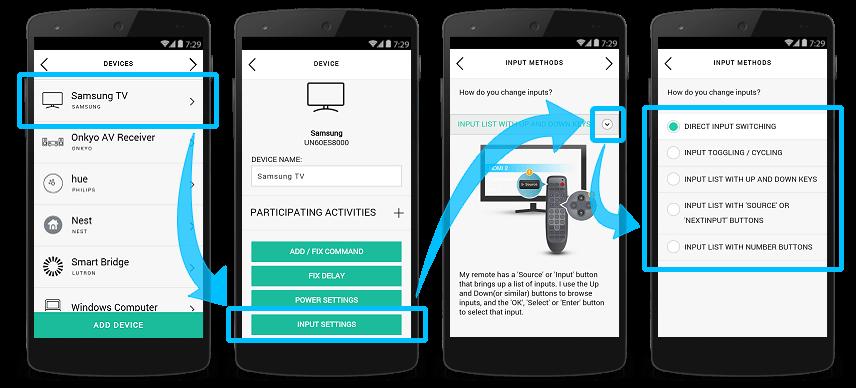 Harmony-App– Änderung der Methode zum Wechsel des Eingangs