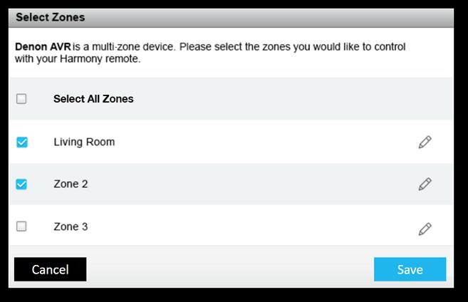 Harmony-Desktop-Software – Mehrere Zonen hinzufügen