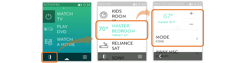 Ecobee Thermostat - Controlling from Ultimate Home