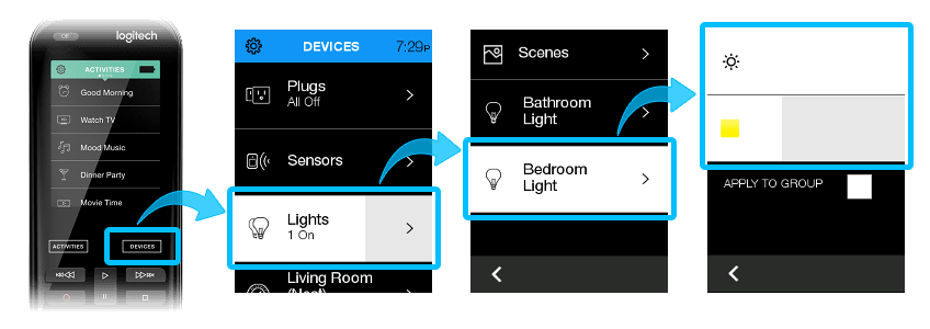 Harmony app light Pairing