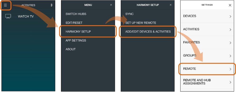 Harmony App - Create Button Sequence